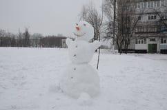 冬天剪影在新年假日 库存照片