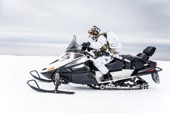 冬天北极山战争 库存图片