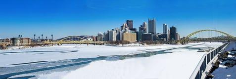 冬天匹兹堡点 库存照片