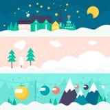 冬天卡片模板