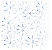 冬天和假日,蓝色雪花轻的背景在白色的 库存图片