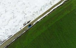 冬天和春天调遣,季节性变动的概念 库存照片