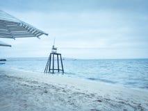 冬天和海 库存照片