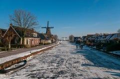 冬天和滑冰在弗里斯 图库摄影
