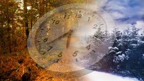冬天和秋天季节时间安排 影视素材