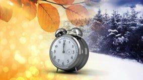冬天和秋天 影视素材