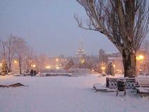 冬天哈尔科夫 库存照片