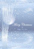 冬天圣诞灯背景 免版税库存照片