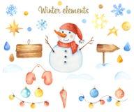 冬天圣诞节元素 向量例证