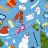 冬天圣诞节标志导航象炫耀和假日室外冬天雪、冰、雪人、新年树和圣诞老人 免版税图库摄影