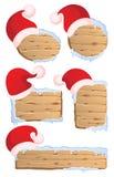 冬天圣诞节签署汇集1 库存照片
