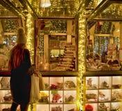 冬天圣诞节节日在莫斯科 俄国 免版税库存照片