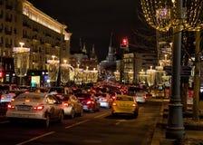 冬天圣诞节节日在莫斯科 俄国 免版税图库摄影