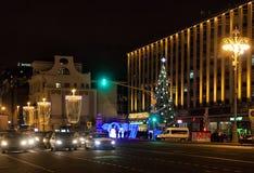 冬天圣诞节节日在莫斯科 俄国 图库摄影