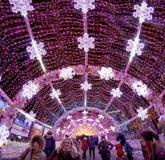 冬天圣诞节节日在莫斯科 俄国 免版税库存图片