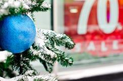 冬天圣诞节销售额 免版税库存图片