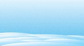 冬天圣诞节雪背景蓝色雪花