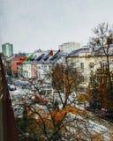 冬天在东欧 库存图片