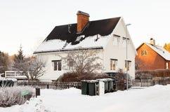 冬天在住宅区 库存照片