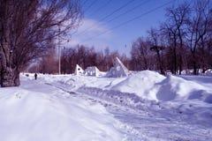 冬天在公园 库存照片
