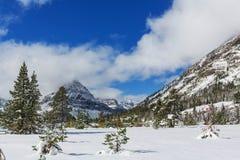 冬天在冰川公园 库存照片