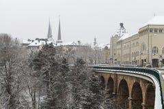 冬天在卢森堡 库存图片