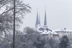 冬天在卢森堡 库存照片