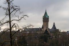 冬天在卢森堡 免版税库存照片