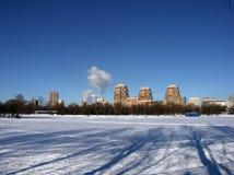 冬天在城市 免版税库存照片