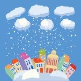 冬天在城市 免版税图库摄影