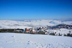 冬天在塞尔维亚Zlatibor 2017年 库存照片