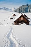 冬天在奥地利阿尔卑斯 库存图片