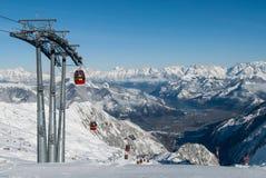 冬天在奥地利 免版税图库摄影