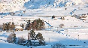 冬天在威尔士 免版税库存照片