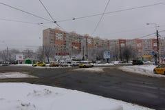 冬天在布加勒斯特 免版税图库摄影