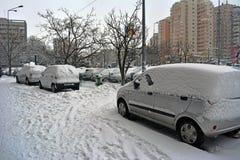 冬天在布加勒斯特 免版税库存图片