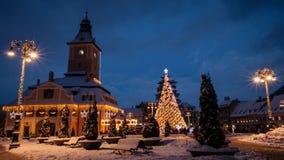 冬天在布拉索夫 免版税库存照片
