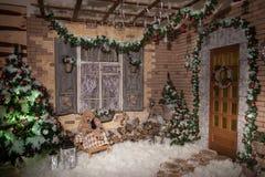 冬天在平衡围场的一个多雪的新年 图库摄影