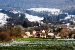 冬天在开胃菜地区在南法国 免版税库存照片