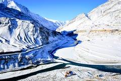 冬天在拉达克 免版税图库摄影