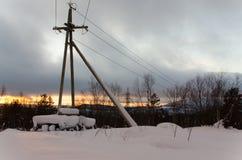 冬天在摩尔曼斯克 图库摄影