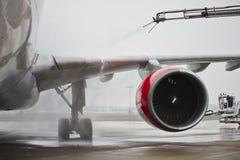 冬天在机场 免版税库存图片