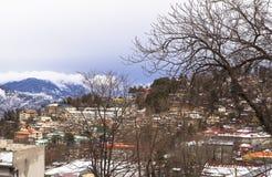 冬天在穆里,巴基斯坦 库存图片