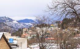 冬天在穆里,巴基斯坦 免版税图库摄影