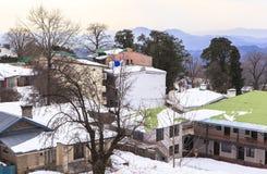 冬天在穆里,巴基斯坦 库存照片