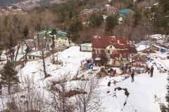 冬天在穆里,巴基斯坦 免版税库存照片