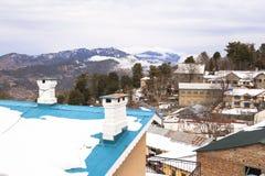 冬天在穆里,巴基斯坦 免版税库存图片