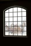 冬天在窗口里 库存图片