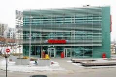 冬天在立陶宛维尔纽斯市Seskine区的首都 免版税库存照片