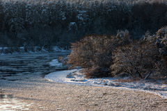 冬天在立陶宛 免版税图库摄影